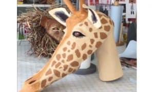paper mache giraffe mask