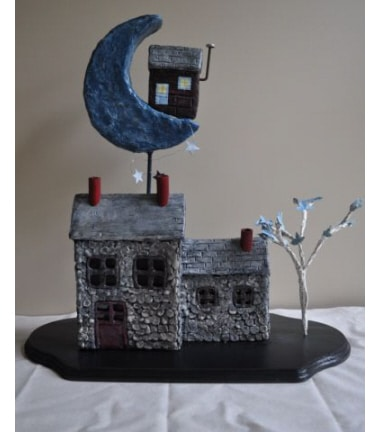 How to make paper mache house
