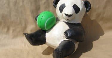 How to make a paper mache panda