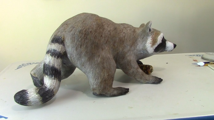 Paper Mache Raccoon Part 3 - Padding the Armature