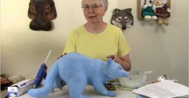 Paper Mache Raccoon Armature