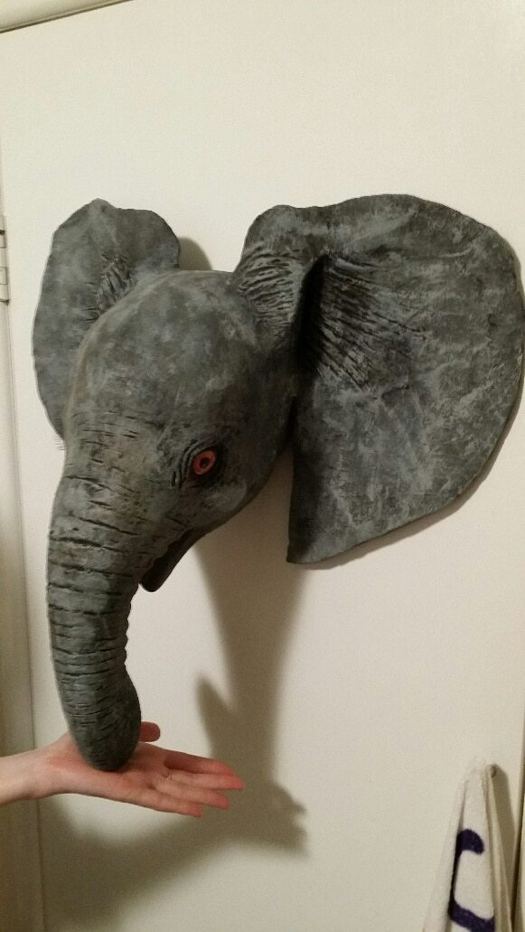 Elly the Elephant, Project Completed and Hanging on the Wall
