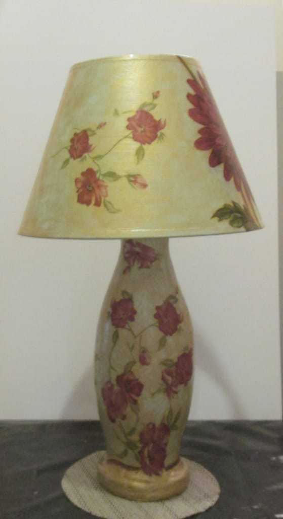 Finished Paper Mache Lamp