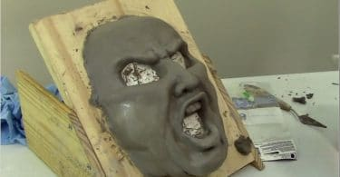 Paper Mache Angry Man Mask