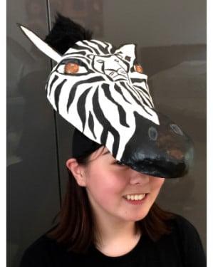 zebra mask-headdress