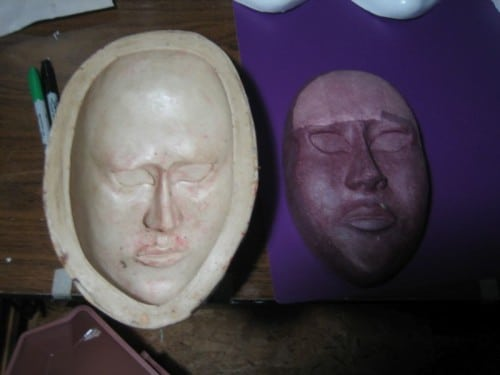 Mask pulled from the mold