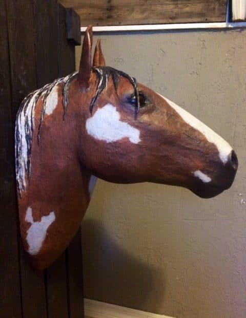 Make a Faux Horse Head Trophy Mount – Guest Post   Ultimate Paper Mache
