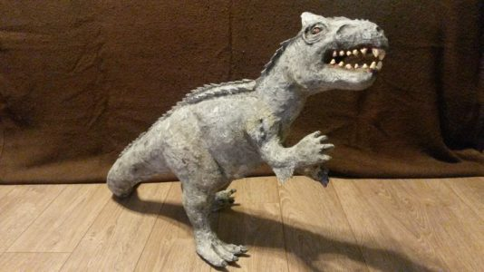 How to make a paper mache dinosaur ultimate paper mache for How to make a sculpture out of paper mache