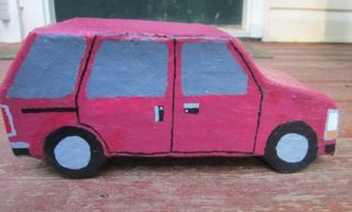 Plymouth Voyager in Paper Mache