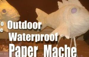 waterproof paper mache