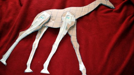 How to Make a Paper Mache Giraffe, Step One
