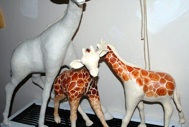 How to Make a Paper Mache Giraffe, Step Nine