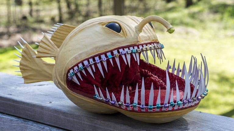 Paper Mache Angler Fish – Wilburine | Ultimate Paper Mache