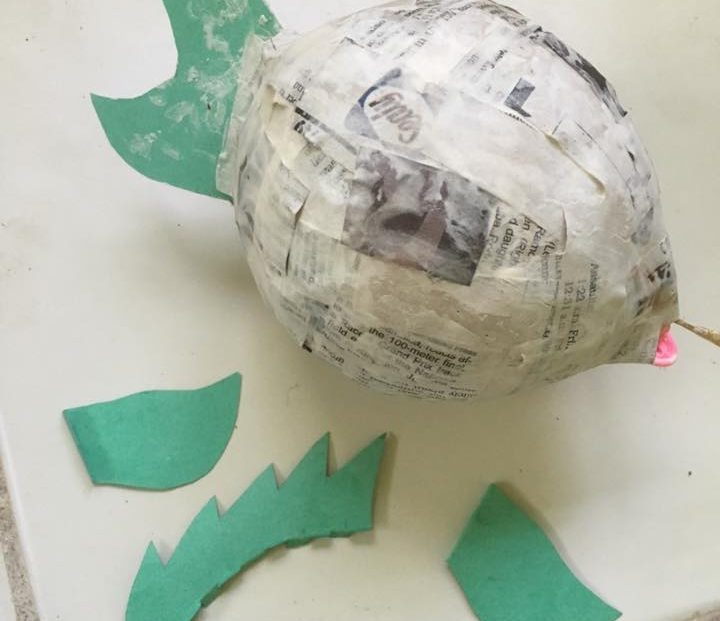 Papier mache in the caribbean us virgin islands for Finishing paper mache