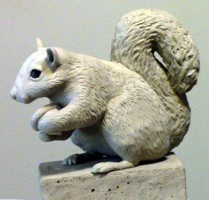 Squirrel Sculpture Made with Free Form Sculpt Epoxy Clay