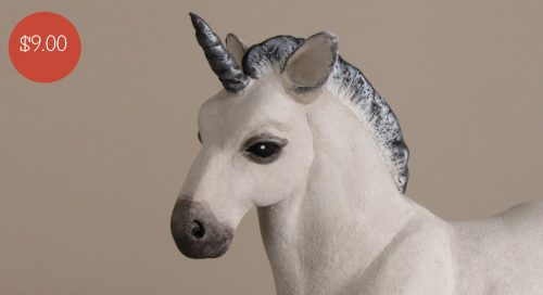 Baby Unicorn Made with Apoxie Sculpt