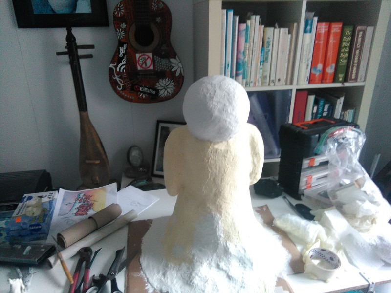 Paper Mache Snowman, The beginning.