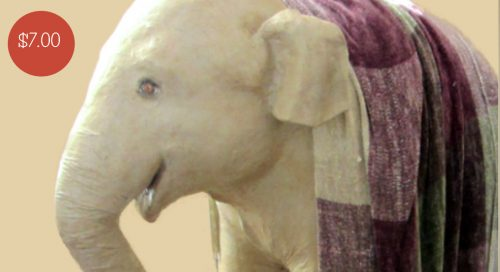 Life-sized baby Indian elephant pattern for paper mache
