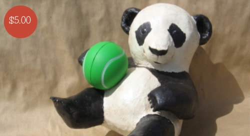 Sculpting pattern for a paper mache panda