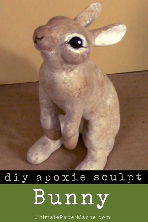 DIY Apoxie Sculpt Bunny Sculpture