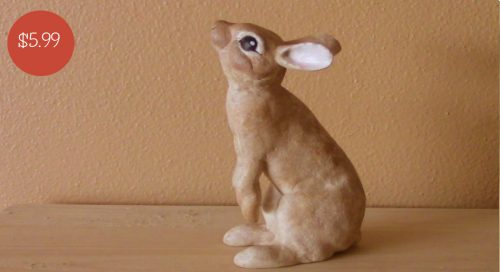 Pattern for a small rabbit sculpture made with Apoxie Sculpt