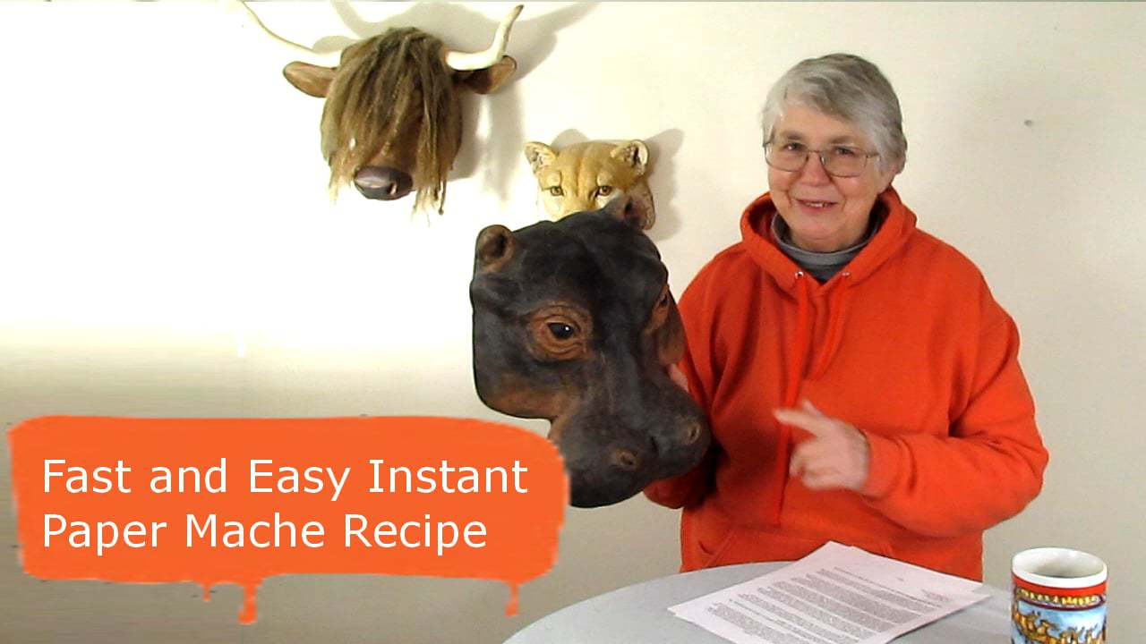 Fast and easy instant paper mache recipe