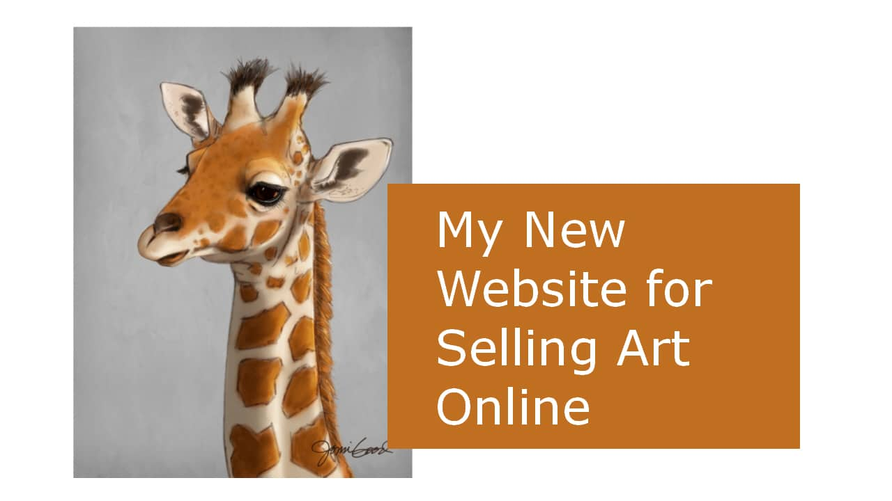 My New Squarespace Website for Selling Art Online
