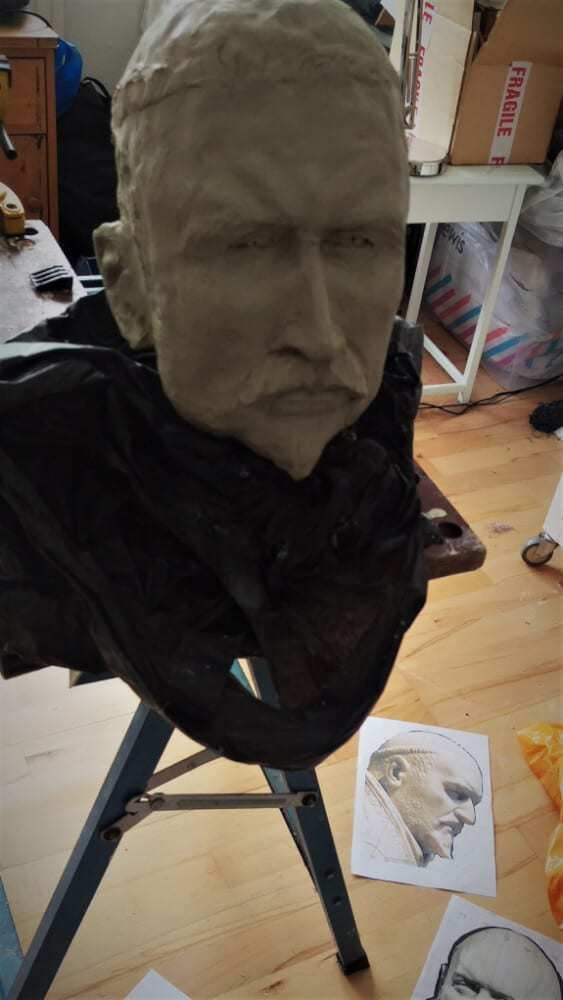 Clay sculpture of Pope Paul V