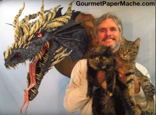 Dan Reeder's latest paper mache dragon video. gourmetpapermache.com