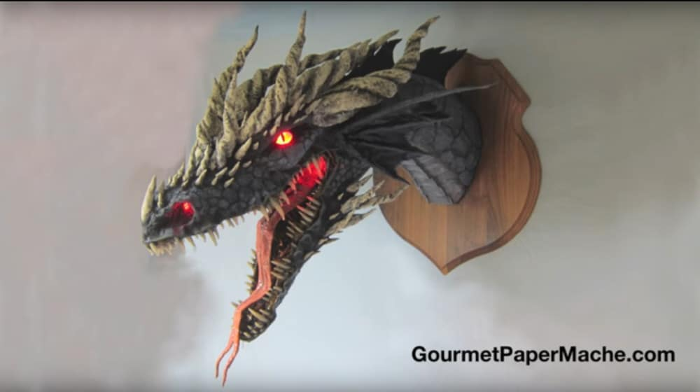 Dan Reeder's Latest Paper Mache Dragon
