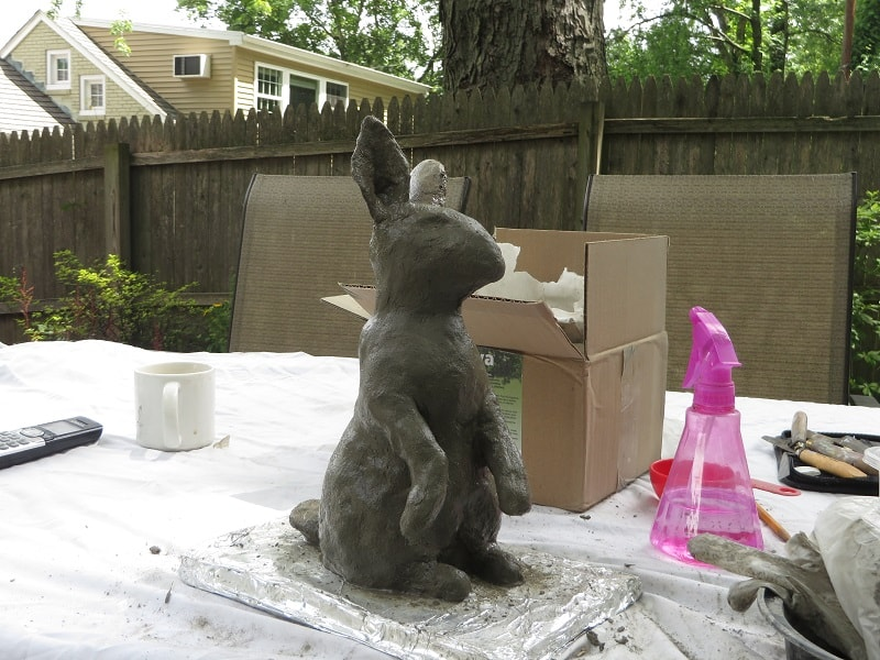 Adding Pal Tiya to Outdoor Rabbit Sculpture