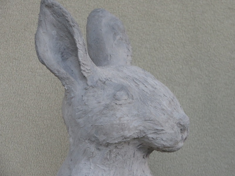 hand-made rabbit sculpture