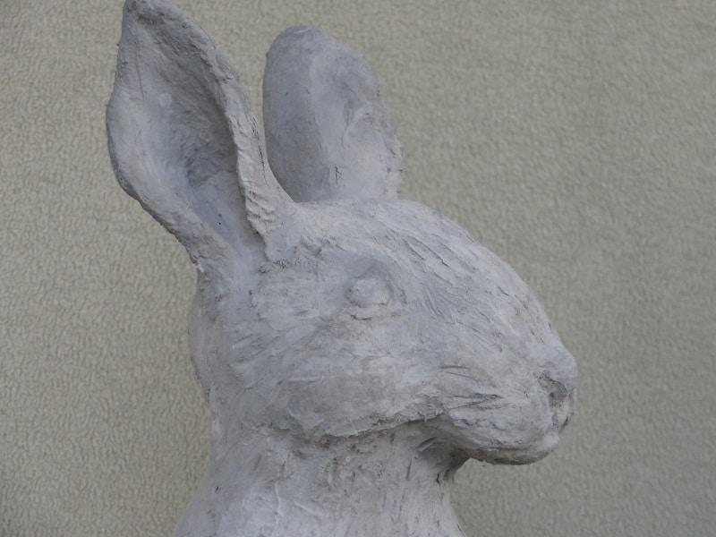 hand-made rabbit sculpture