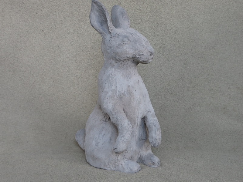 Outdoor rabbit sculpture