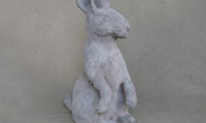 Outdoor bunny sculpture by Eileen Gallagher