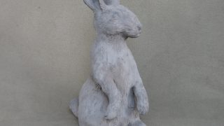 Outdoor bunny sculpture by Eileen Gallagher