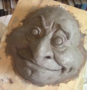 WED Clay Goblin Mask