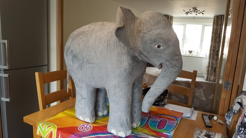 Painting Andy the Elephant
