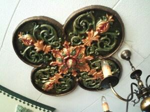 Sarah's Paper Mache Ceiling Tile