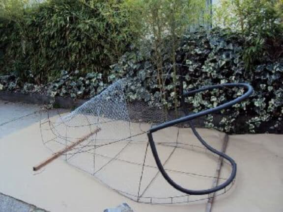 Welded Frame for waterproof paper mache whale