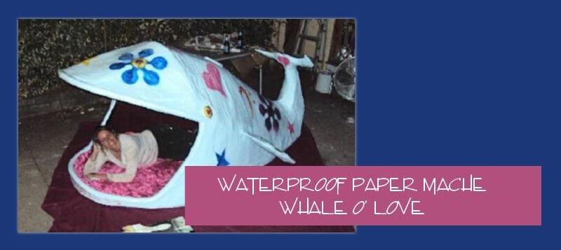 Paper mache whale bed