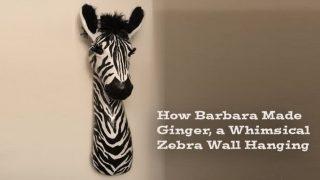 Make a Paper Mache Zebra Faux Trophy Wall Sculpture