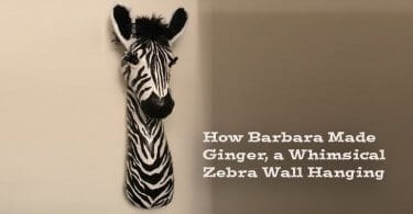 Make a Paper Mache Zebra Faux Trophy Wall Sculpture