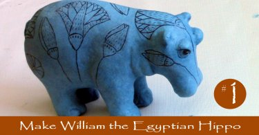 Make William the Egyptian Hippo with Paper Mache Clay
