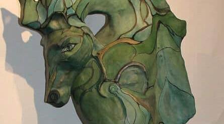 Serefina - concrete seahorse sculpture