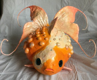 Make a Pearlscale Goldfish with Smooth Air Dry Clay