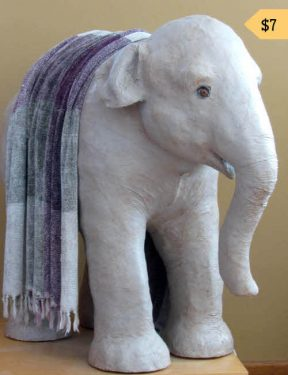 Sculpting Pattern for Life-Sized Paper Mache Elephant