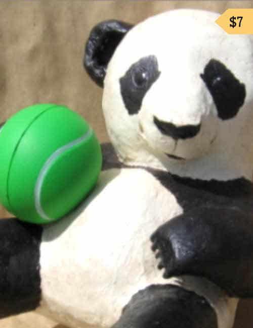 Baby Panda Paper Mache Pattern