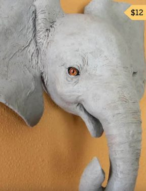 elephant wall sculpture tn