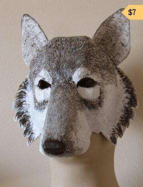 paper mache wolf mask pattern